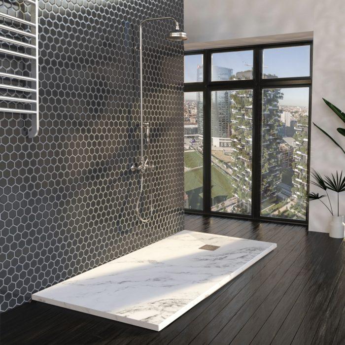 Ambiente mármol en tu baño