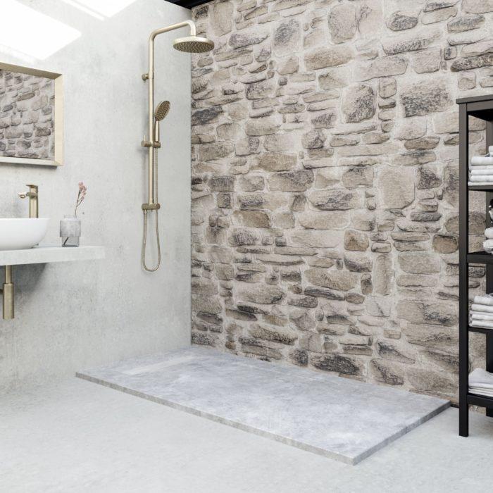 Cement, materiales humildes ennoblecen el baño, ambiente